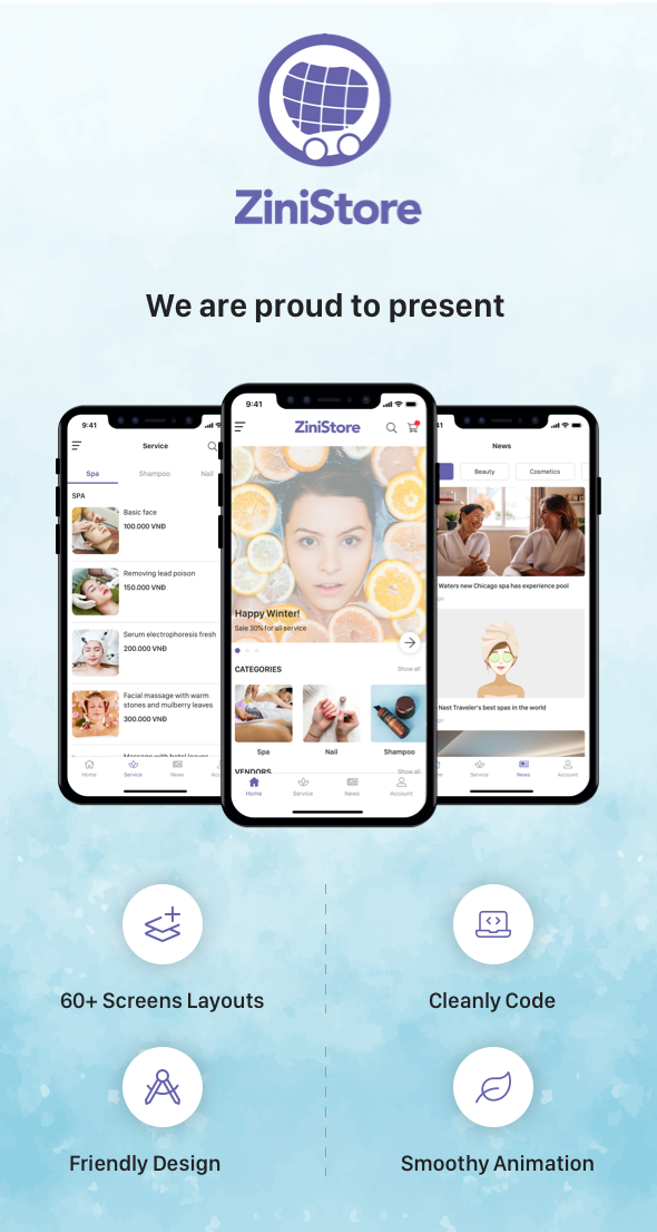 ZiniStore - Full React Native Service App for Woocommerce - 7