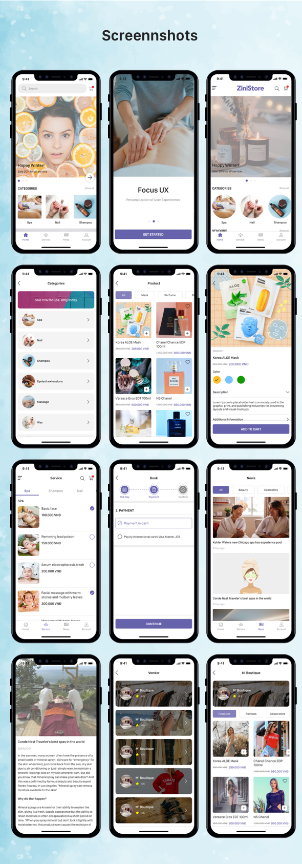 ZiniStore - Full React Native Service App for Woocommerce - 14